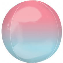 "Ombre Orbz Balloon - Red & Blue Ombre Orbz (15"") 1pc"